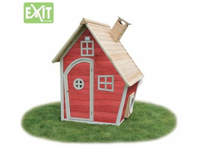 Holz Spielhaus Exit Fantasia 100 Rot 369 00