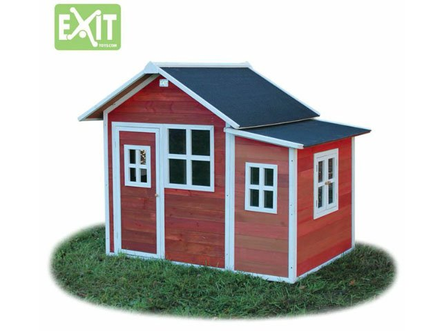 holz spielhaus exit loft 150 rot 499 00. Black Bedroom Furniture Sets. Home Design Ideas