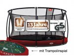 Berg InGround Elite 430 rot Tattoo mit Sicherheitsnetz...