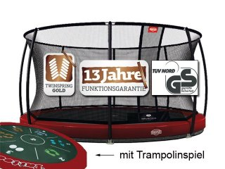 Berg InGround Elite 430 rot Tattoo mit Sicherheitsnetz Deluxe