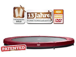 Bodentrampolin BERG InGround Elite+ T-Serie 330 rot