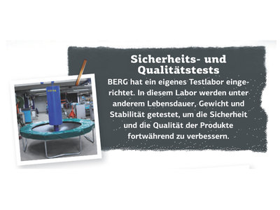Berg InGround Ultim Champion 330 mit Sicherheitsnetz Deluxe grau