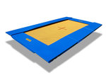 Eurotramp Bodentrampolin Adventure blau
