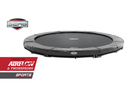 Bodentrampolin BERG InGround Elite 430 grau