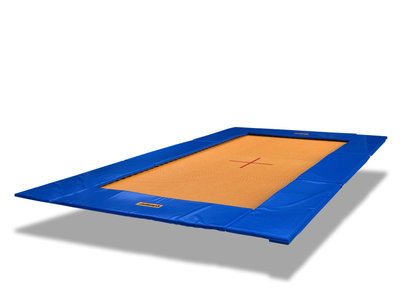 Eurotramp Bodentrampolin Grand Master blau